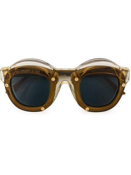 Солнцезащитные очки металлические - коричневые Kuboraum