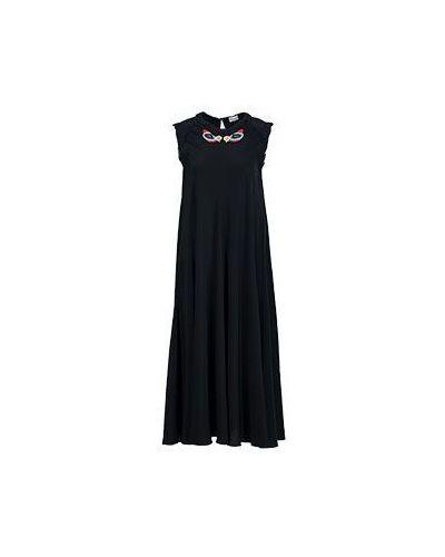 Черное платье макси Valentino Red