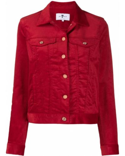 Красная длинная куртка 7 For All Mankind