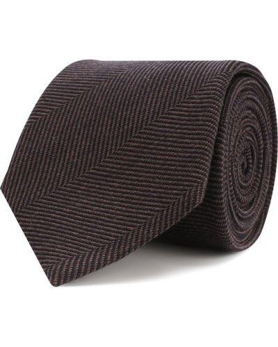 Галстук шерстяной темно-коричневый Brioni