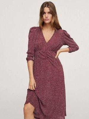 Прямое платье - бордовое Mango