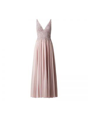 Różowa sukienka wieczorowa rozkloszowana z cekinami Mascara