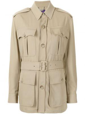 Beżowa kurtka wełniana Ralph Lauren Collection