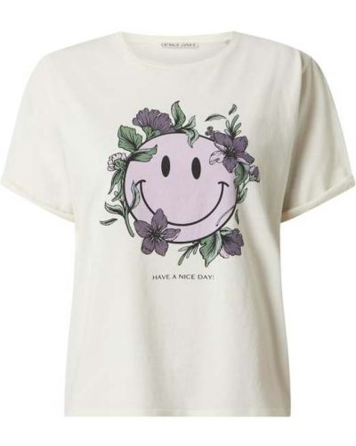 Biała t-shirt bawełniana z printem Catwalk Junkie