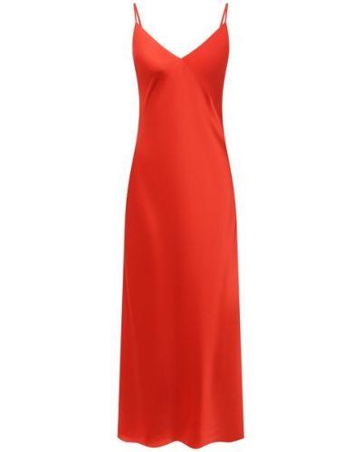 Шелковое красное платье Lesyanebo