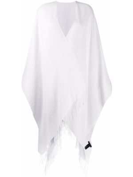 Biały ponczo wełniany asymetryczny Rag & Bone