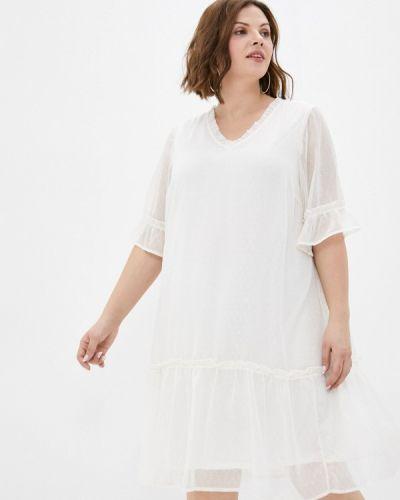 Повседневное бежевое платье Zizzi