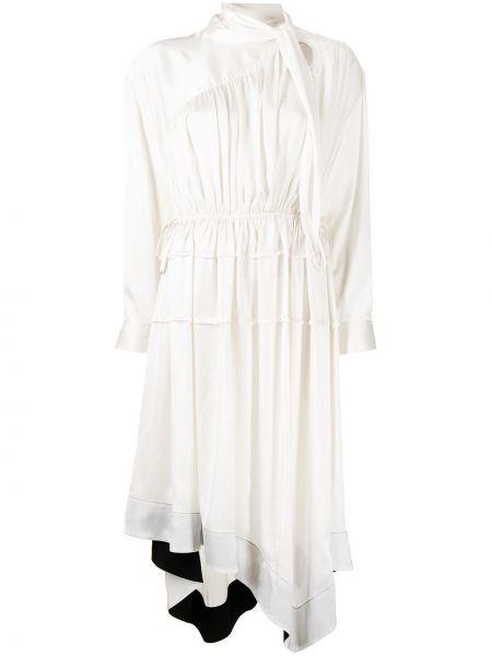 Платье макси с длинными рукавами - белое 3.1 Phillip Lim