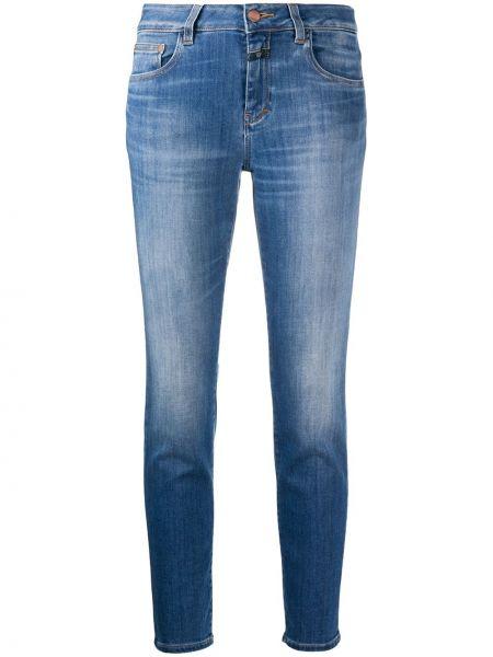 Облегающие зауженные джинсы - синие Closed