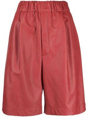 Хлопковые красные шорты с поясом Jejia