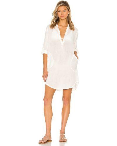 Платье рубашка - белое Young Fabulous & Broke