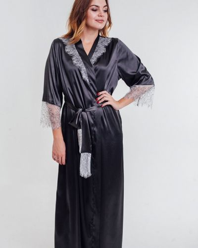 Черный домашний халат Mia-amore