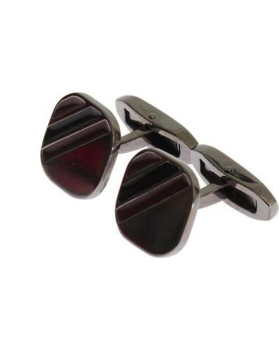 Spinki do mankietów srebrne - czerwone Dolce And Gabbana