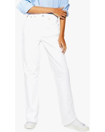 Широкие джинсы расклешенные белые Topshop