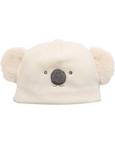Runo biały kapelusz z haftem Il Gufo