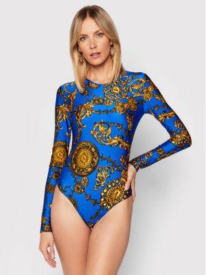 Bluzka body - niebieska Versace Jeans Couture