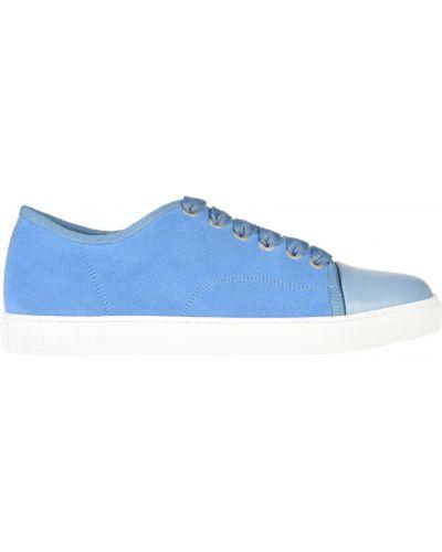 Кожаные кеды - голубые Jog Dog