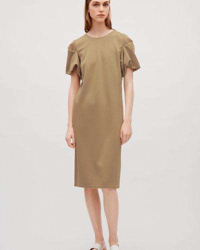 Прямое платье - бежевое Cos