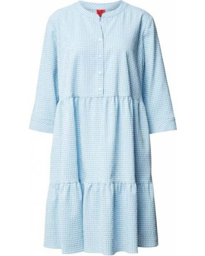 Niebieska sukienka mini bawełniana Hugo