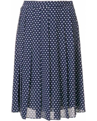 Синяя плиссированная юбка Michael Michael Kors