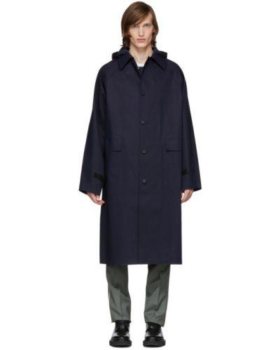 С рукавами длинное пальто с капюшоном с воротником Kassl Editions