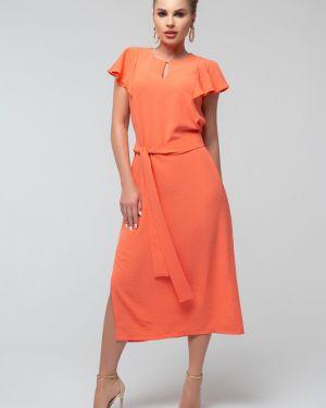 Летнее платье с разрезами по бокам с поясом петербургский швейный дом