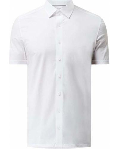 Biała koszula krótki rękaw bawełniana Olymp