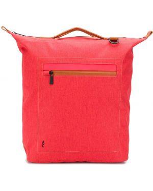 Красная нейлоновая кожаная сумка круглая Ally Capellino