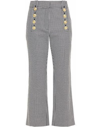 Расклешенные хлопковые белые брюки Derek Lam 10 Crosby