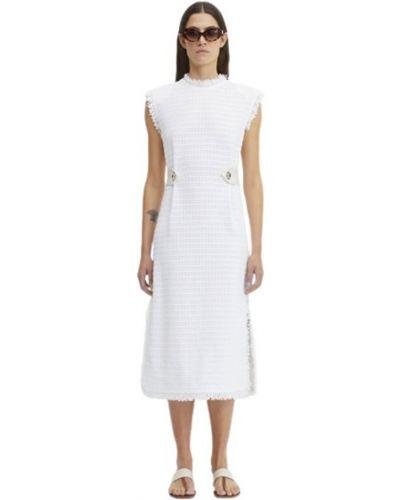 Biała sukienka bez rękawów Rodebjer
