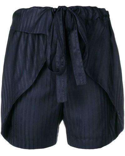 Синие шорты в полоску Stella Mccartney