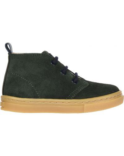 Кеды зеленый кожаный Jacadi Paris