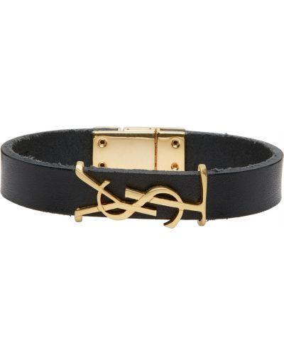 Czarna złota bransoletka Saint Laurent