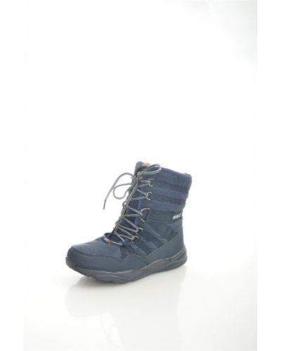 Синие дутики закрытые на шнуровке Sayota