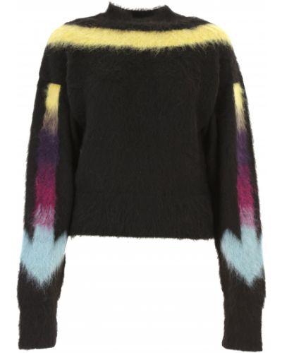 Czarny sweter moherowy z długimi rękawami Off-white C/o Virgil Abloh