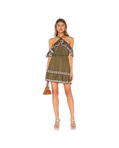 Платье с поясом с вышивкой на бретелях Tularosa