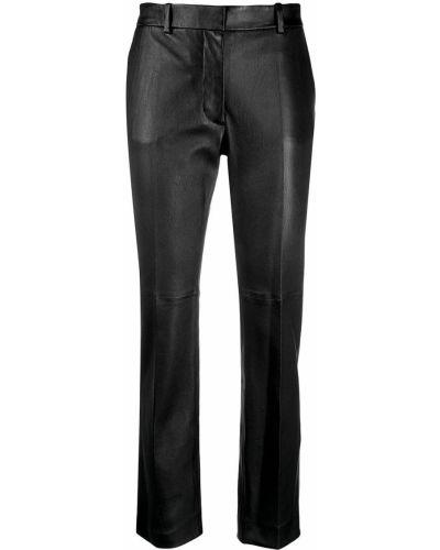 Со стрелками черные кожаные брюки Joseph