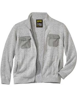 Акриловый свитер с воротником на молнии на резинке Atlas For Men