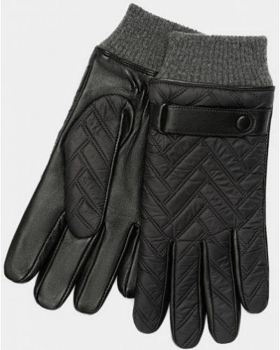 Модные кожаные черные перчатки Ralf Ringer