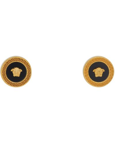 Czarny kolczyki Versace