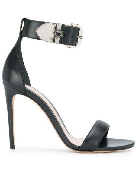 Sandały z klamrami czarne Alexander Mcqueen
