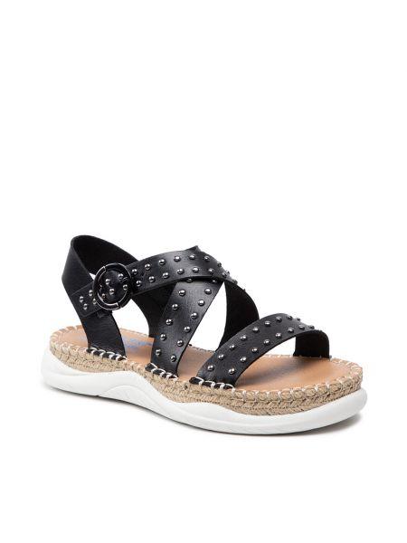 Sandały espadryle - czarne Skechers