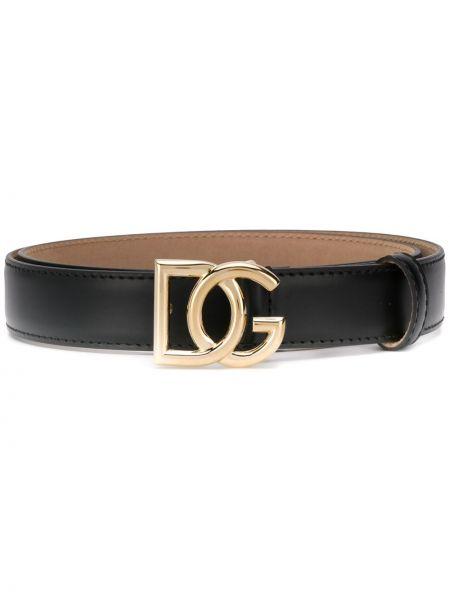 Ремень черный с пряжкой Dolce & Gabbana