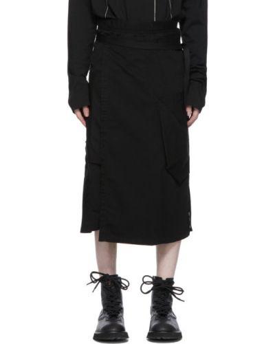 Хлопковая черная юбка с карманами Julius