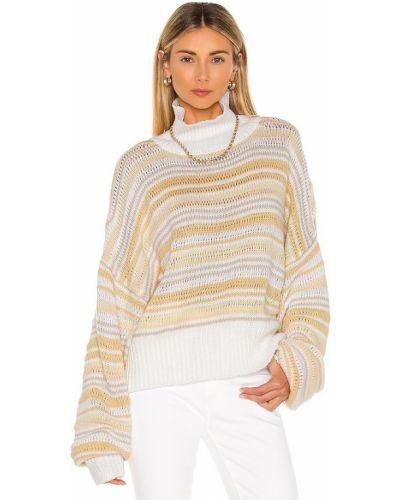 Белый пуловер свободного кроя в полоску Jens Pirate Booty