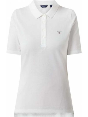 Biały t-shirt bawełniany Gant