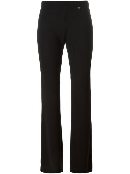 Черные расклешенные брюки Versace Collection