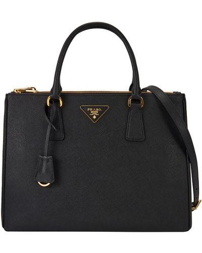 Кожаная черная сумка Prada