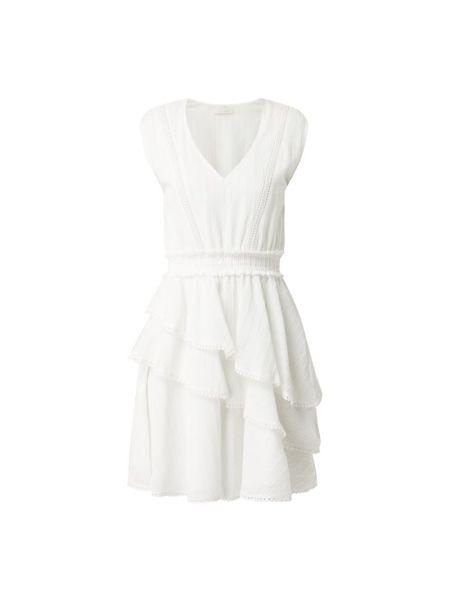 Biała sukienka mini rozkloszowana bawełniana Freebird