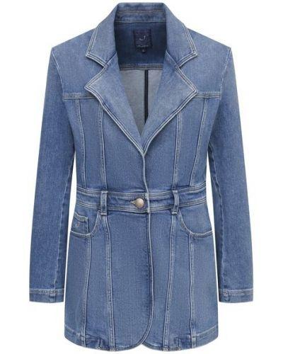 Хлопковый синий пиджак Jacob Cohen